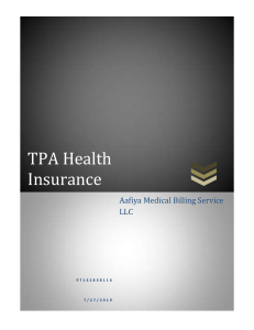 Third Party Administrator Health Insurance