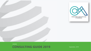 Consulting Guide 2019 - CnA IITG