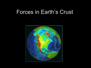 Forces in Earth Crust