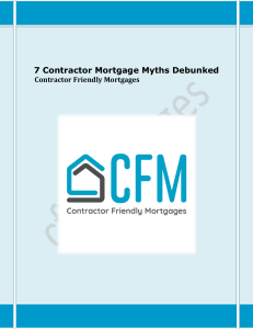 7 Contractor Mortgage Myths Debunked