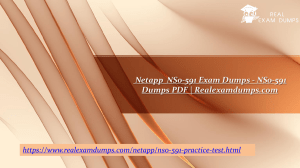 Netapp  NS0-591 Exam Dumps - NS0-591 Dumps PDF | Realexamdumps.com