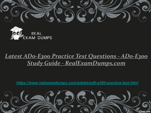 Latest AD0-E300 Practice Test Questions - AD0-E300 Study Guide - RealExamDumps.com