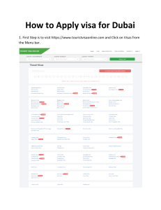 How to apply UAE visa online
