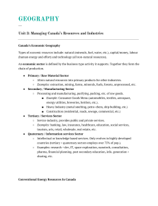 Managing Canada's Resources and Industries (Geography)