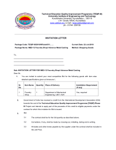 Foundry Lab UIET KUK invitation for quotation