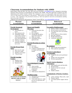 ADHD SIMPLE CLASSROOM ACCOMMODATIONS FOR STUDENTS