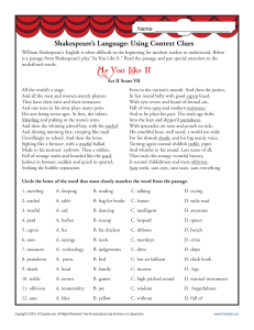 grms shakespeares language using context clues