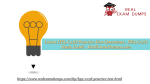 Download Latest HP HP5-C07D Practice Test Dumps - RealExamDumps.com
