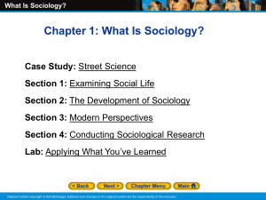 ch 1 - what is sociology - notes - pp