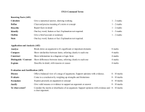 ITGS Command Terms definitions handout