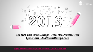 Latest HP2-H82 Practice Test Questions - HP2-H82 Study Guide - RealExamDumps.com
