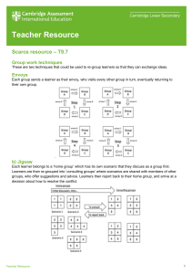 Teacher resource - Scarce resources - T9.7 tcm143-467696