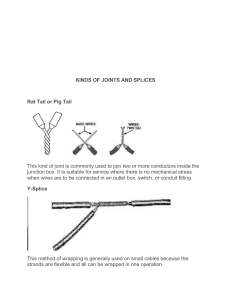 kinds of joints and splices
