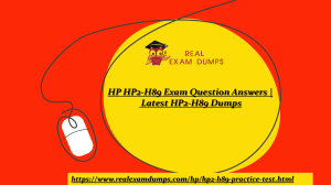 HP HP2-H89 Exam Dumps