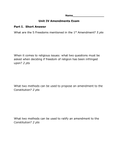 Amendments Test
