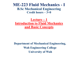 Lecture-1 Introduction of Fluid Mechanics