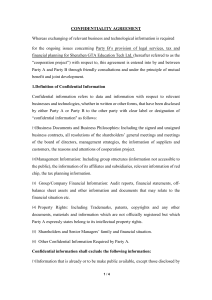CONFIDENTIALITY AGREEMENT v2