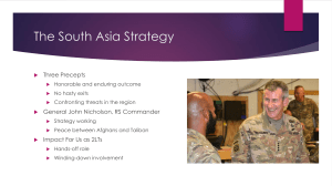 The South Asia Strategy