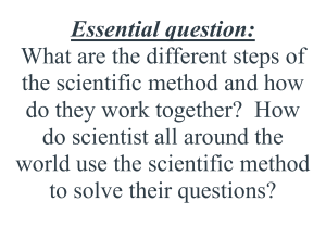 Essential question-Inquiry Unit