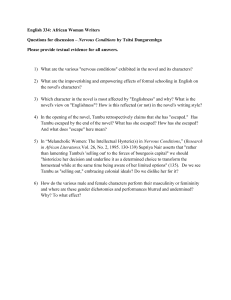 English 334 - Nervous Conditions questions
