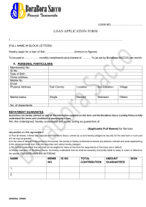 Borabora-SACCO-Loan-Application-Form