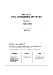 BFC 34303 Chapter 2 Probability