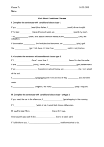 worksheet if-clauses