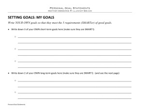 Outschool Personal Goal Statements