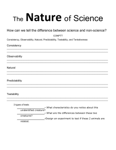 Nature of science guided notes