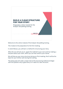 Analytic Storytelling Build A Clear Structure