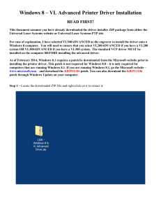 windows 8 vl advanced printer driver installation