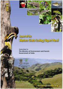 report of the western ghats ecology expert panel