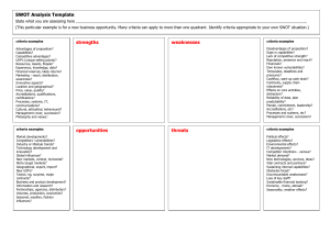 Swot Analysis Template 16