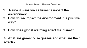 Human Impact On The Environment-Process Questions (1)