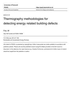 Elements -  Thermography Methodologies for Detecting Energy Related Building Defects