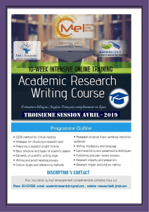 Formation Academic Research Writing