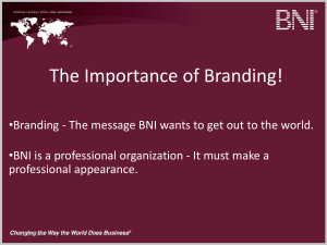 Branding-PowerPoint-BNI-Members-Chapters