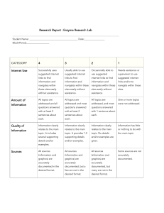 Enzyme Research Lab Rubric