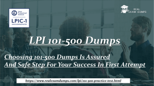 How To Go Through A Snappy Preparation From 101-500 Dumps For Appealing Results With Money Back Guarantee