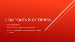 L1. Components of Fitness