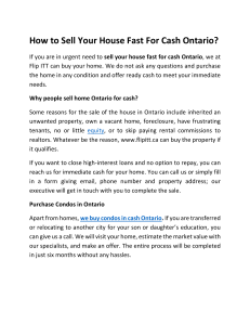 How to Sell Your House Fast For Cash Ontario?