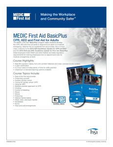MEDIC BasicPlus CPR, AED and First Aid Form Field Flyer
