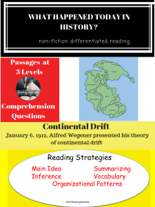 ContinentalDriftDifferentiatedReadingPassageJanuary6