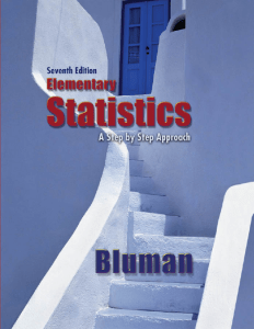 Elementary Statistics A Step by Step Approach 7th Edition by Allan G