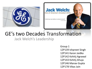 GE-Two Decades Transformation