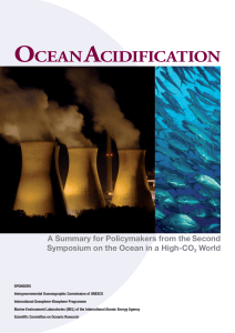 Ocean Acidficiation Background Information Reading