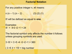 factorial and summation notation (1)