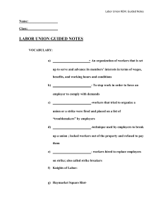 Labor Union Remedial Guided Notes