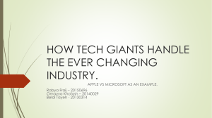 HOW TECH GIANTS HANDLE THE EVER CHANGING INDUSTRY