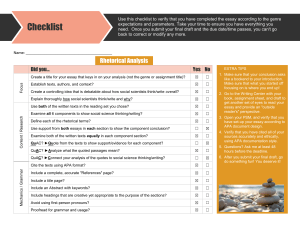 Checklist Rhetorical Analysis